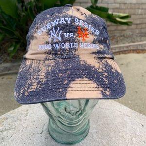Vintage 2000 World Series Subway Series Bleach Hat